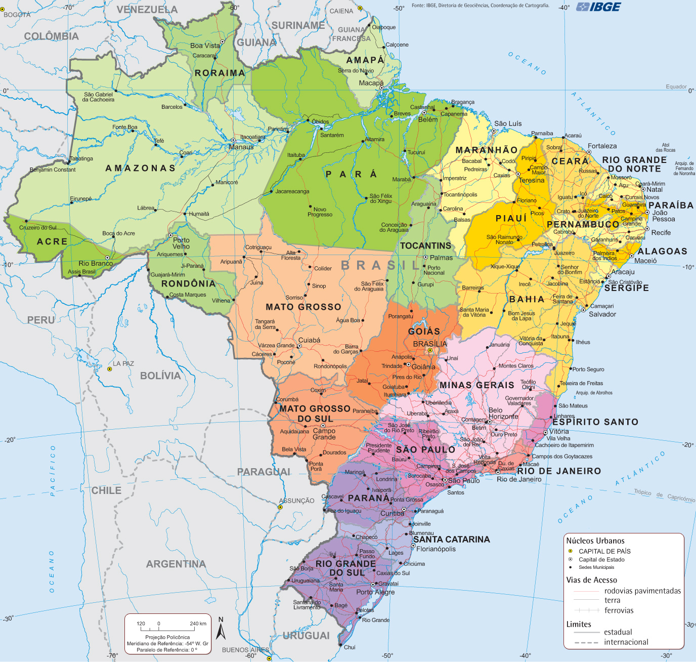 The Beautiful Brazilian States SkyscraperCity - Brazil states map