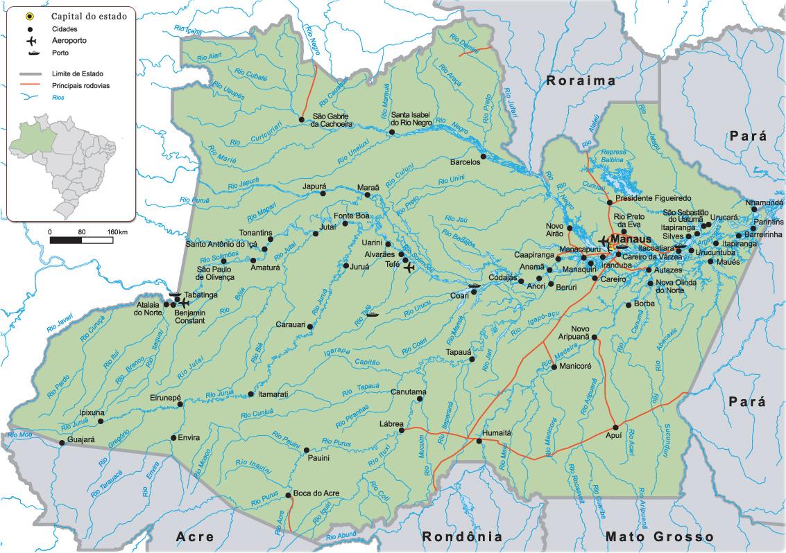 Rio amazonas mapa