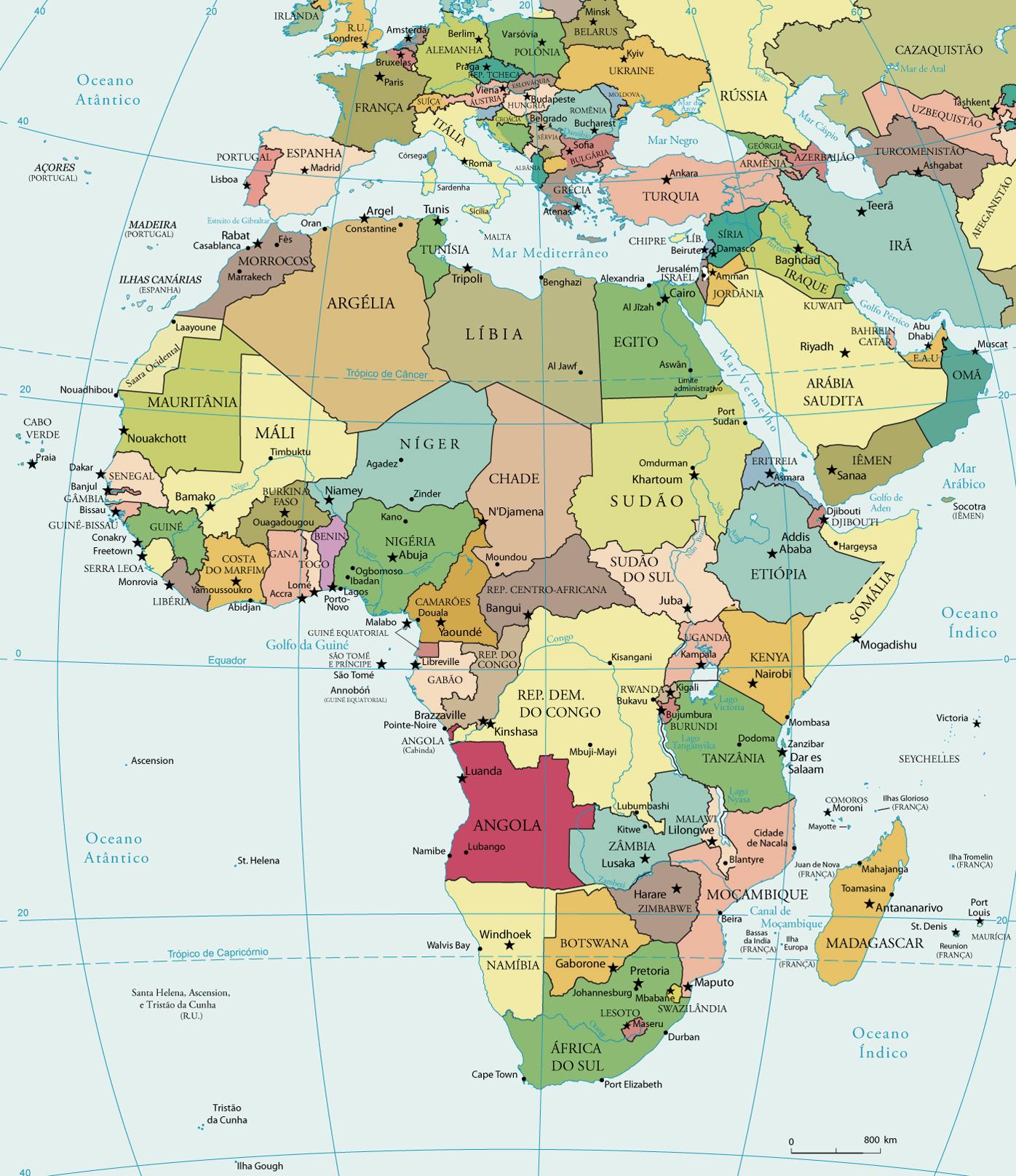 mapa da africa Mapa Político da Africa mapa da africa