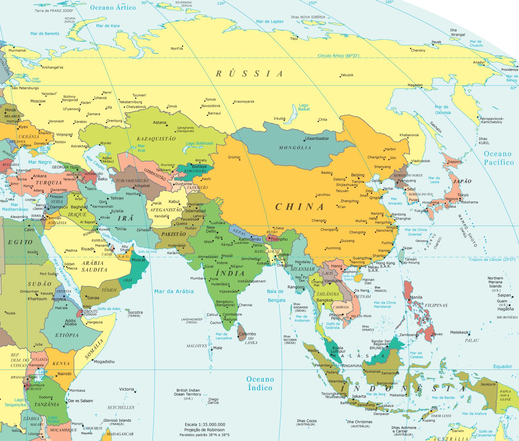 mapa de ásia Mapa da Ásia mapa de ásia