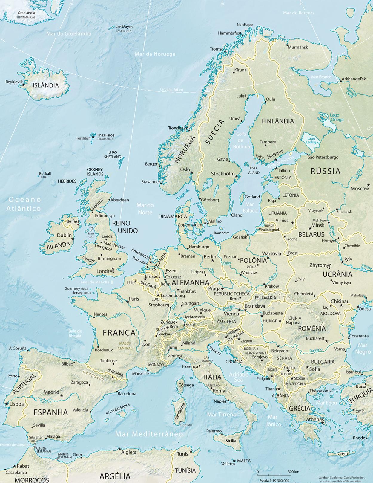 Mapa Fisico Mudo Rios De Europa Para Imprimir.Mapa Da Fisico Da Europa