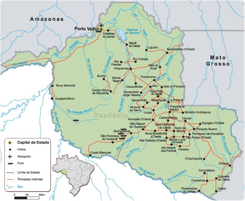 rondonia mapa Mapa do Estado de Rondônia rondonia mapa